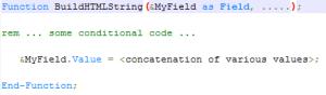 BuildHTMLString