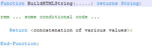 BuildHTMLStringReturnString